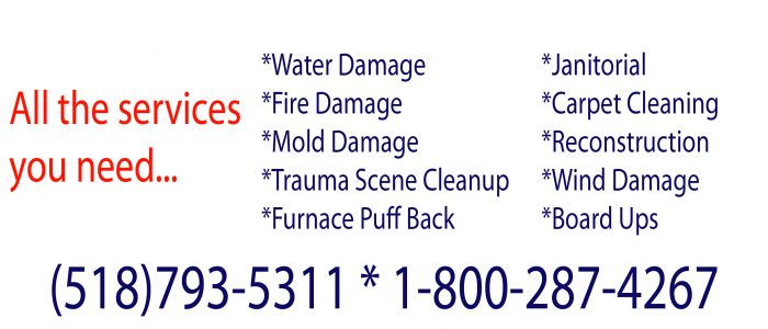 Fire, Mold and Water Damage Restoration For Glens Falls